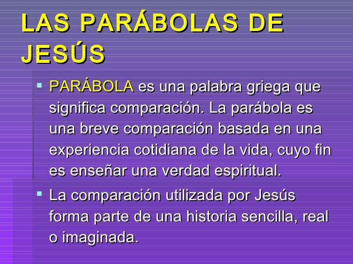 Power point, parabolas del reino de dios i innovacion