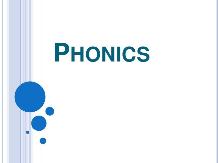 Phonics<br />