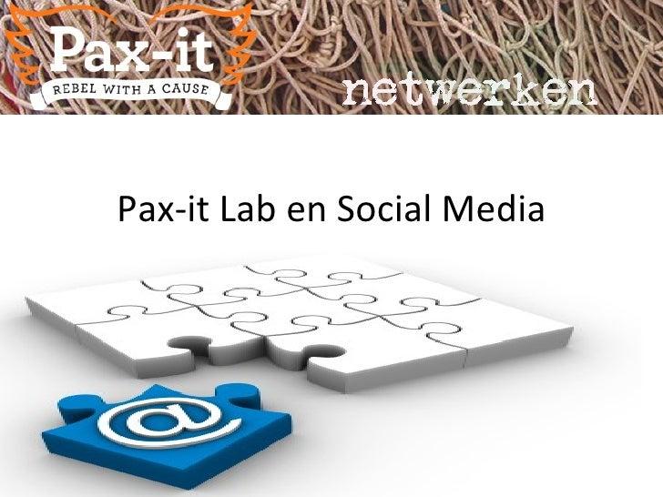 Pax-it Lab en Social Media