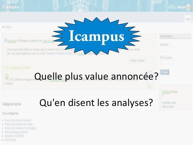 Icampus Quelle plus value annoncée? Qu'en disent les analyses?