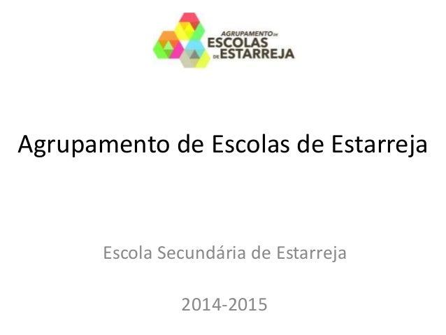 Agrupamento de Escolas de Estarreja Escola Secundária de Estarreja 2014-2015