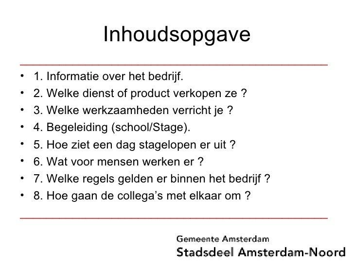 Powerpoint Presentatie Stage