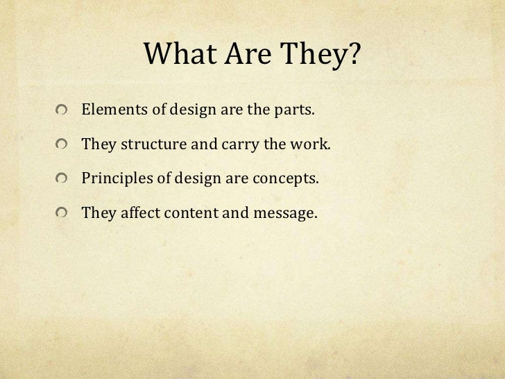 The Elements and Principles of Design Slide 2