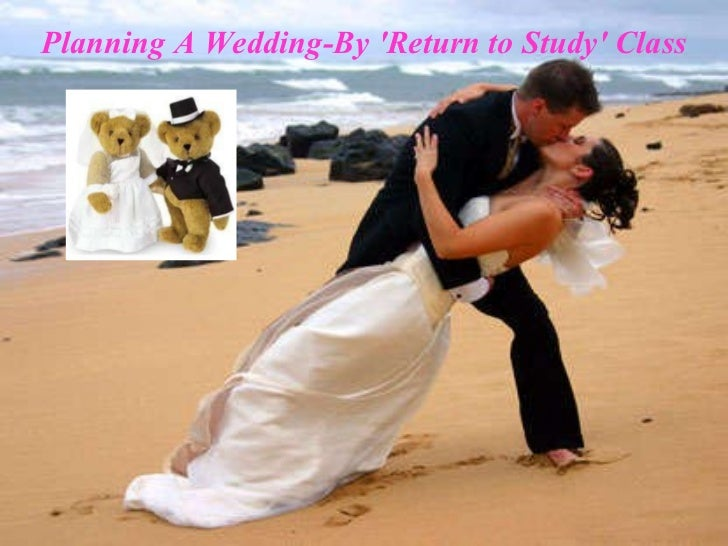 Planning A Wedding-By 'Return to Study' Class
