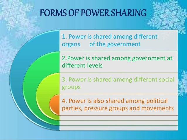 different forms of power sharing
