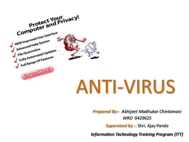 ANTIVIRUS AND VIRUS Powerpoint presentation
