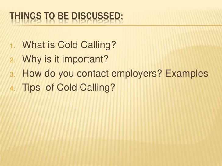 Powerpoint Presentation Cold Calling Slide 2