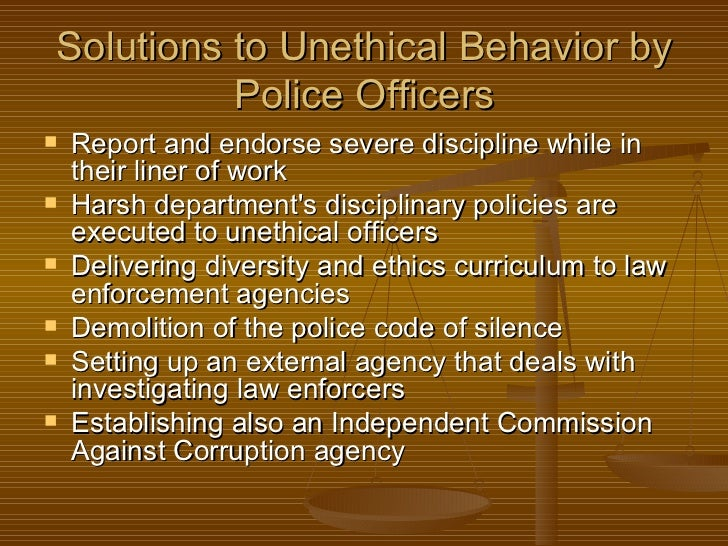 Unethical Police Operations Paper
