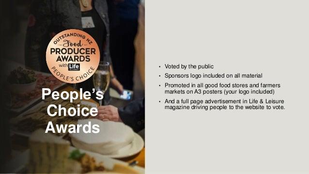 powerpoint presentation food award