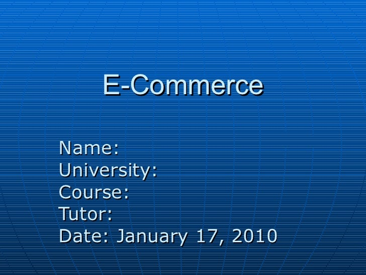 electronic commerce thesis Essays - largest database of quality sample essays and research papers on ecommerce thesis.