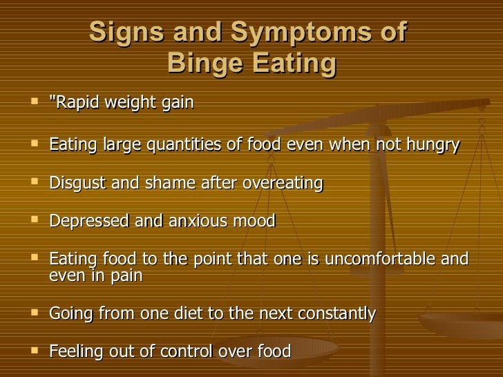 the signs and symptoms of eating disorders Subtle signs of eating disorders some eating disorder signs are obvious: since people with eating disorders display a wide range of symptoms.