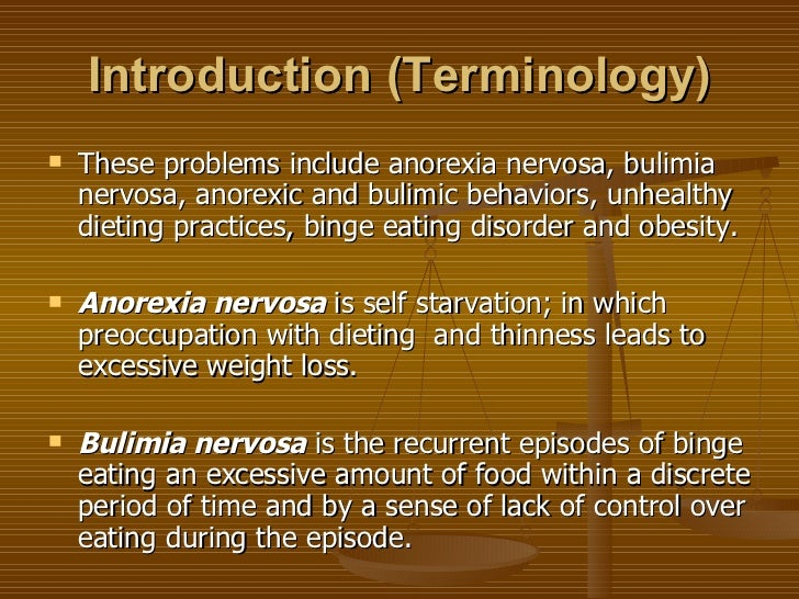 Eating Disorders/ Anorexia Nervosa term paper 6751