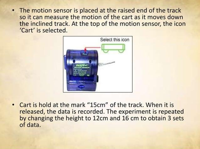 Result/Data                              85cm      85cm      85cmLength of track, h                              8cm      ...