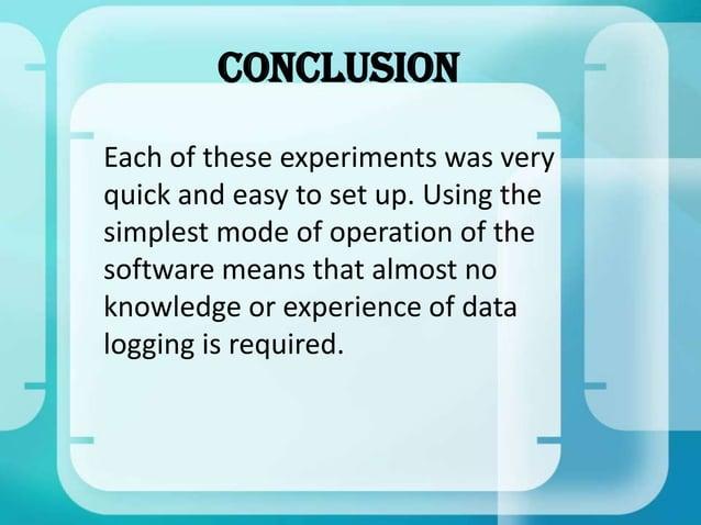 Powerpoint presentation for data logging