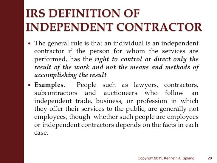 Forms and Associated Taxes for Independent Contractors