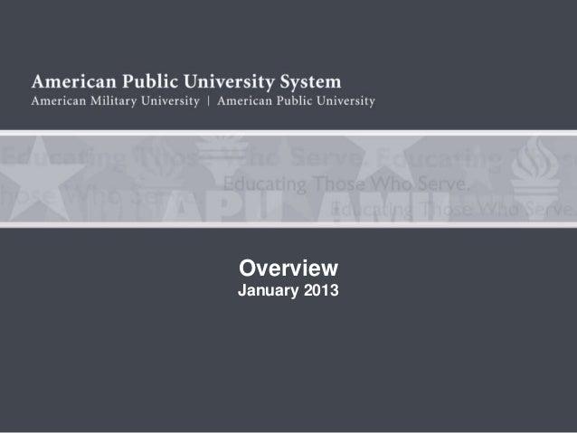 OverviewJanuary 2013