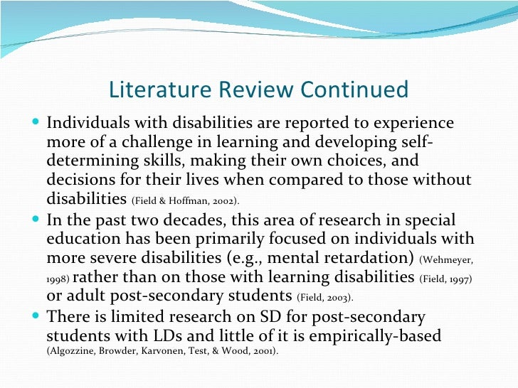 Literature review in a dissertation example