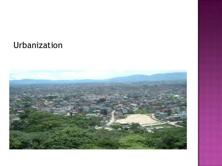 Urbanization<br />