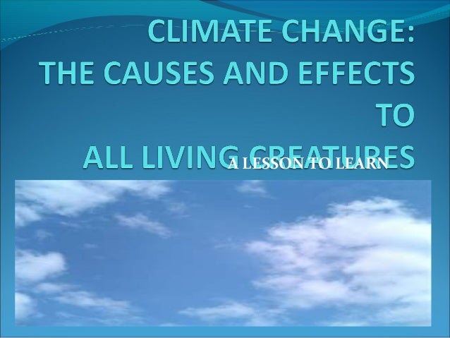 Powerpoint presentation on climate change
