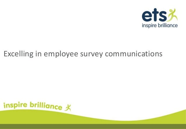 Excelling in employee survey communications