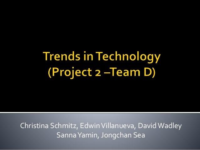 Christina Schmitz, EdwinVillanueva, David Wadley SannaYamin, Jongchan Sea