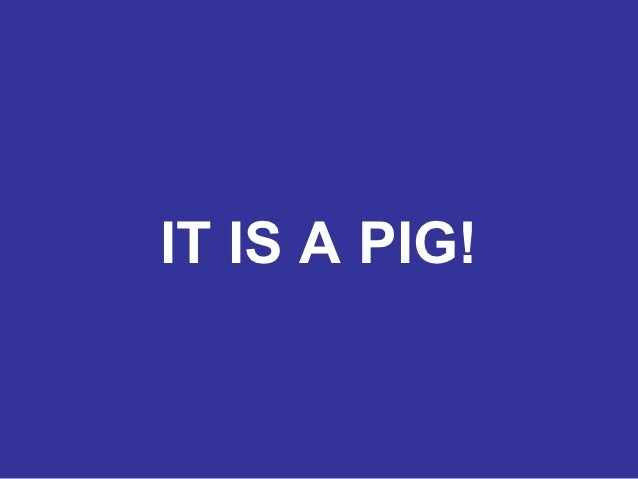 IT IS A PIG!