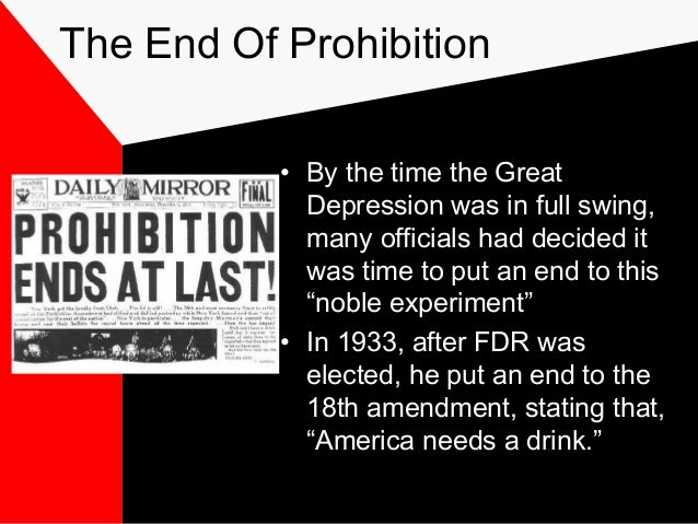"prohibition movement the noble experiment The prohibition movement inadvertently generated a more prolific alcohol joe m ""prohibition: the noble experiment"" ."