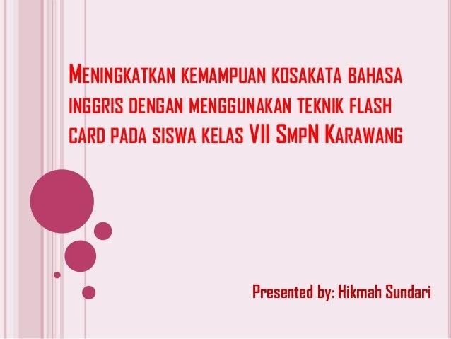 Contoh Presentasi Sidang Skripsi Bahasa Inggris Kumpulan Berbagai Skripsi