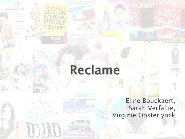 Eline Bouckaert, Sarah Verfallie, Virginie Oosterlynck Eline Bouckaert, Sarah Verfallie, Virginie Oosterlynck