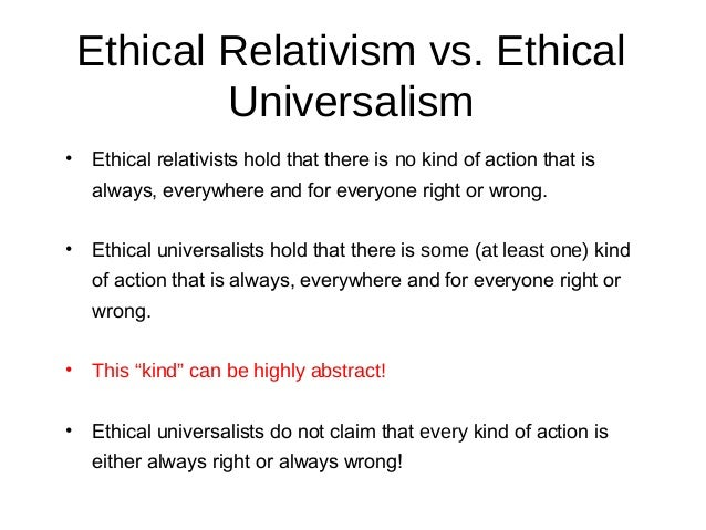 moral universalism Keywords: arguments for moral universalism, challenges to moral universalism, cultural relativism, global political theory, moral universalism, universalism oxford scholarship online requires a subscription or purchase to access the full text of books within the service.