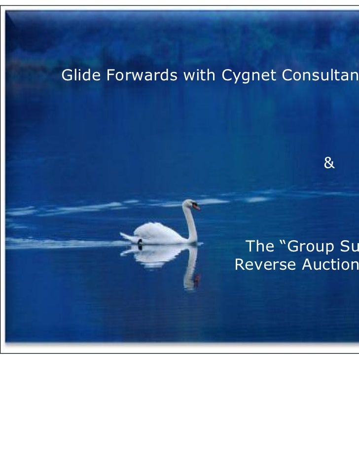 "Glide Forwards with Cygnet Consultancy                               &                     The ""Group Supplies""           ..."