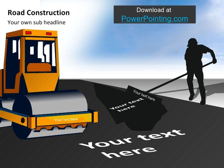 Powerpoint road construction 4 your own sub headline road construction download toneelgroepblik Choice Image