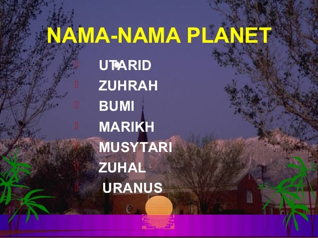 Mengenali Planet Planet Dalam Sistem Suria