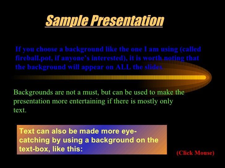 Powerpoint Sample Slide 3