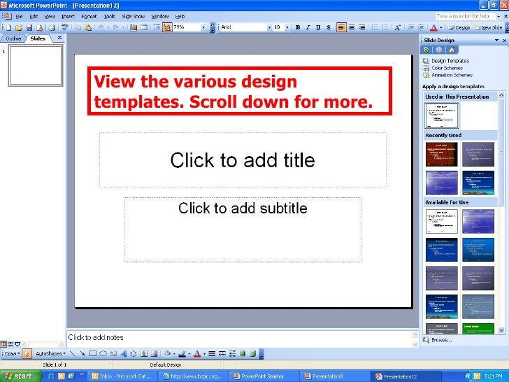Power point seminar view the various design templates scroll down for more toneelgroepblik Choice Image