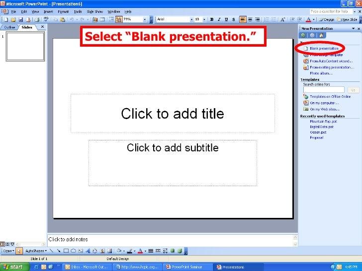 Power point seminar select blank presentation toneelgroepblik Choice Image