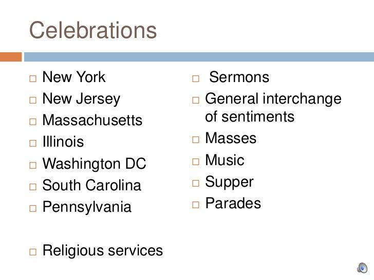 Celebrations   New York                Sermons   New Jersey              General interchange   Massachusetts         ...