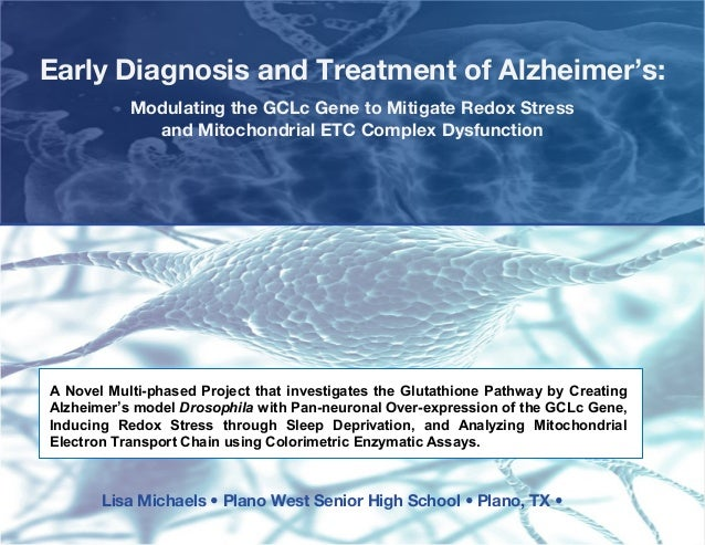 Early Diagnosis and Treatment of Alzheimer's:           Modulating the GCLc Gene to Mitigate Redox Stress             and ...