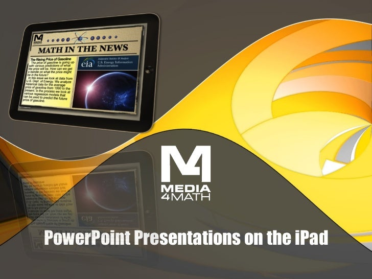 PowerPoint Presentations on the iPad