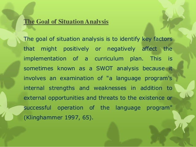 Situation Analysis Example
