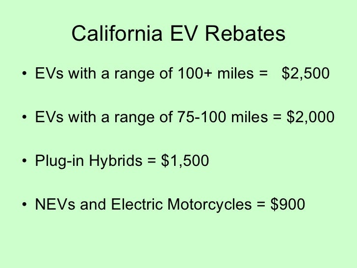 Electric Vehicles in 2012 Slide 2