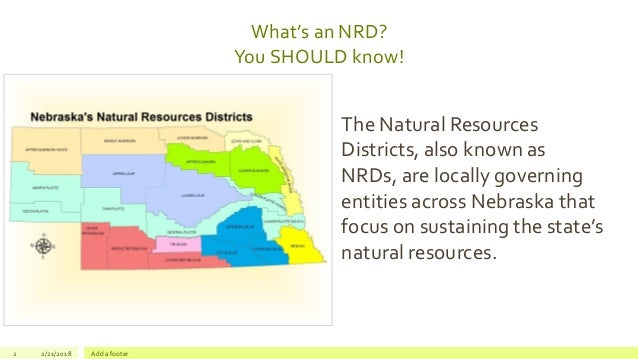 What's a NRD? Why should I care what they do? Slide 2