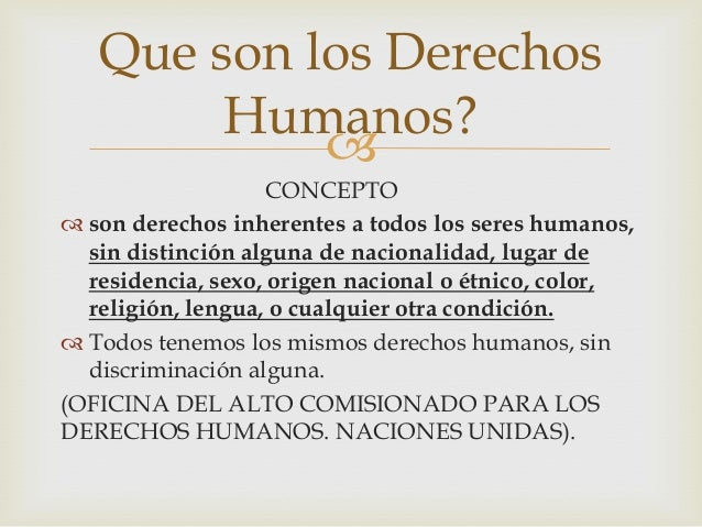 Power point sobre derechos humanos for Cuales son las caracteristicas de la oficina