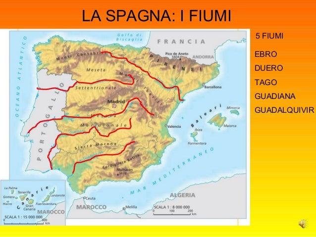 Cartina Fisica Spagna Con Fiumi.Powerpoint Spagna