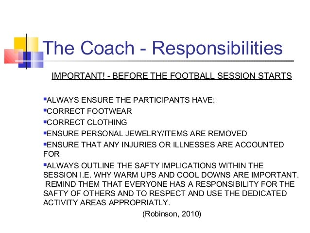 Personal coaching philosophy soccer examples.