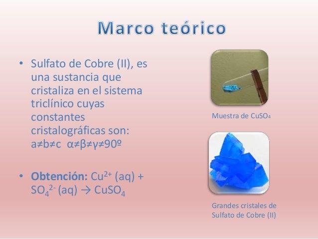 Cristalización Sulfato De Cobre Ii
