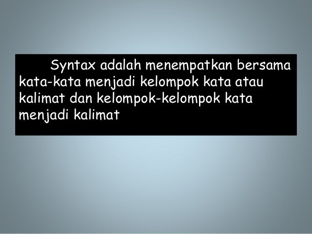Power point syntax syntax adalah menempatkan ccuart Images