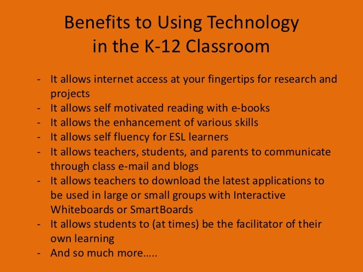 benefits of technology in the classroom