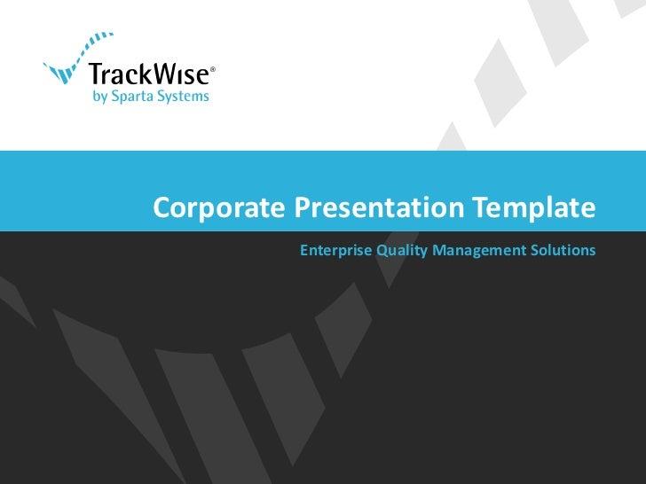 Powerpoint template corporate presentation template enterprise quality management toneelgroepblik Choice Image