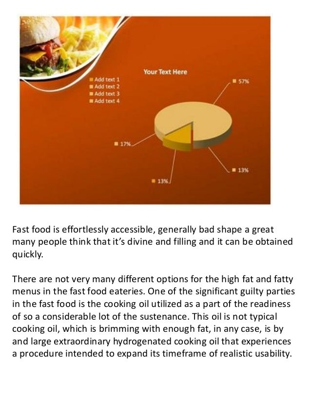 effect of fast food Free essay: leticia jackson the causes and effects of fast food consumption often times many wonder what drives an individual to eat fast food thinking.